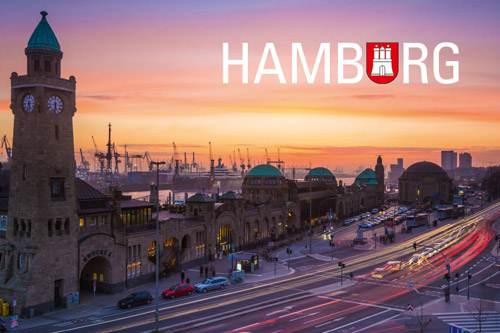 Kühlschrankmagnet Hamburg Landungsbrücken