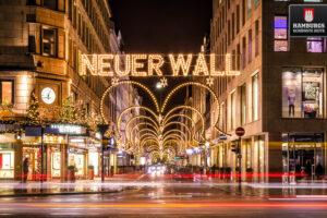Hamburg Neuer Wall zu Weihnachten