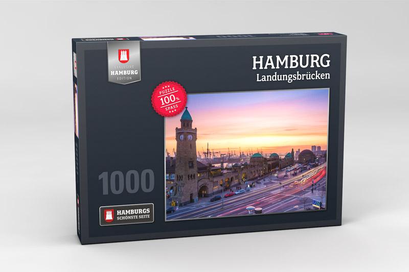 Hamburg Puzzle Landungsbruecken