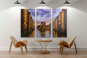 hamburg bilder als leinwand poster auf alu dibond oder hinter acrylglas. Black Bedroom Furniture Sets. Home Design Ideas