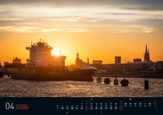 Hamburg Kalender 2017 April