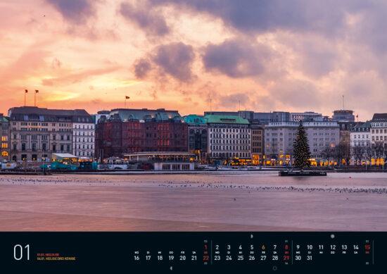 Hamburg Kalender 2017 Januar
