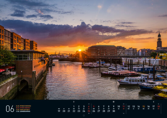 Hamburg Kalender 2017 Juni