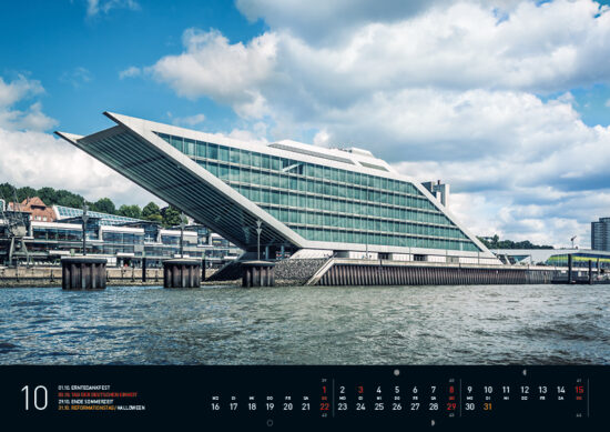 Hamburg Kalender 2017 Oktober