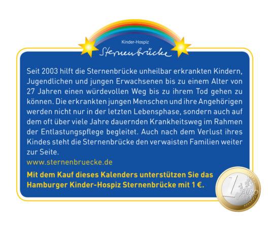 1 EUR geht an das Hamburger Kinder-Hospiz Sternenbrücke