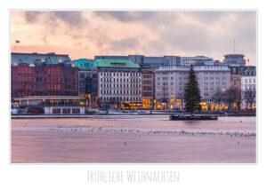 Hamburg Weihnachtskarte Binnenalster