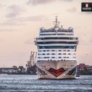Hamburg Kreuzfahrtschiff auf Holz