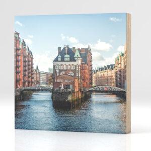 Hamburg Wasserschloss auf Holz