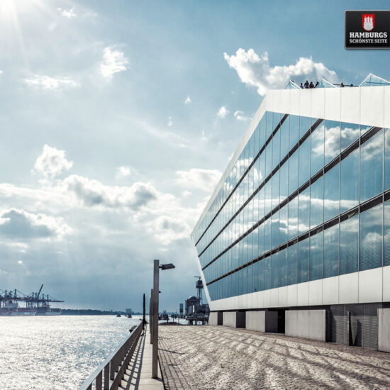 Hamburg Dockland auf Holz