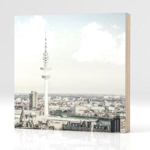 Hamburg Fernsehturm auf Holz