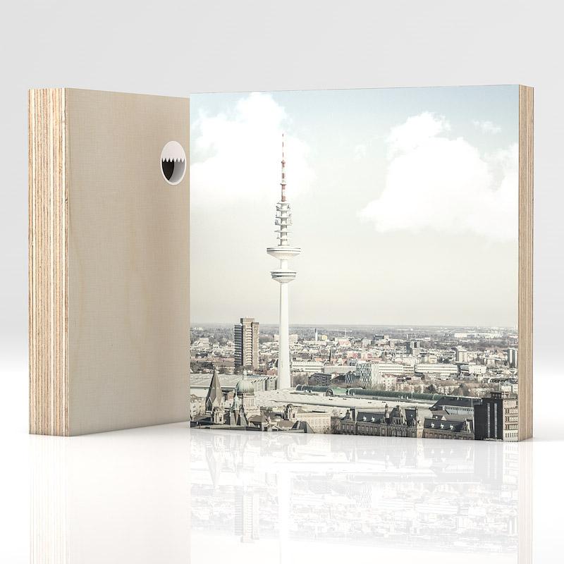 Hamburg Fernsehturm auf 21 mm Multiplex