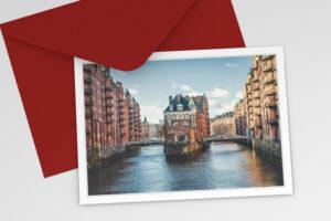 Hamburg Grußkarte Wasserschloß