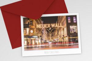 Hamburg Weihnachtskarte Neuer Wall