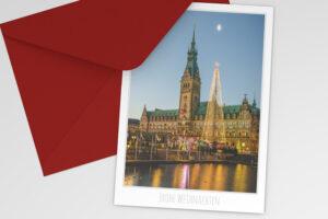 Hamburg Weihnachtskarte Rathaus