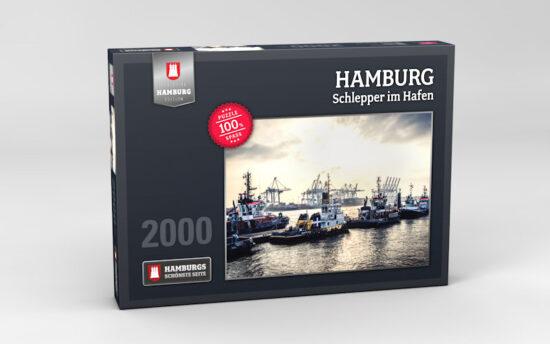 Hamburg Puzzle Schlepper im Hafen 2000 Teile