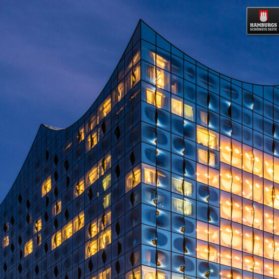 Elbphilharmonie Blaue Stunde auf Holz