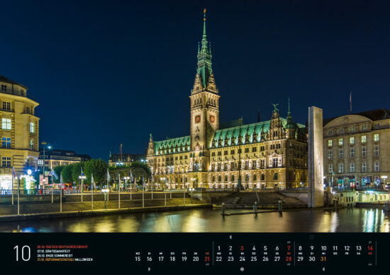 Oktober –Hamburg Kalender 2018