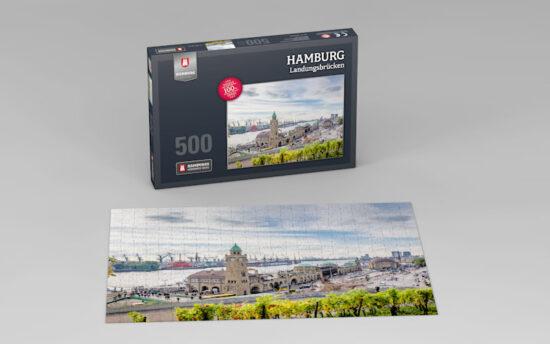 Hamburg Puzzle Landungsbruecken Tag 500 Teile